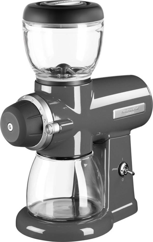 KitchenAid Mlýnek na kávu šedá + dárek k nákupu