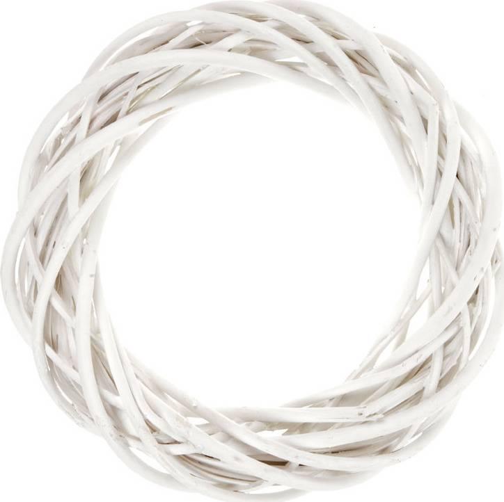 Proutěný věnec, bílá barva JP0010 WHITE Art