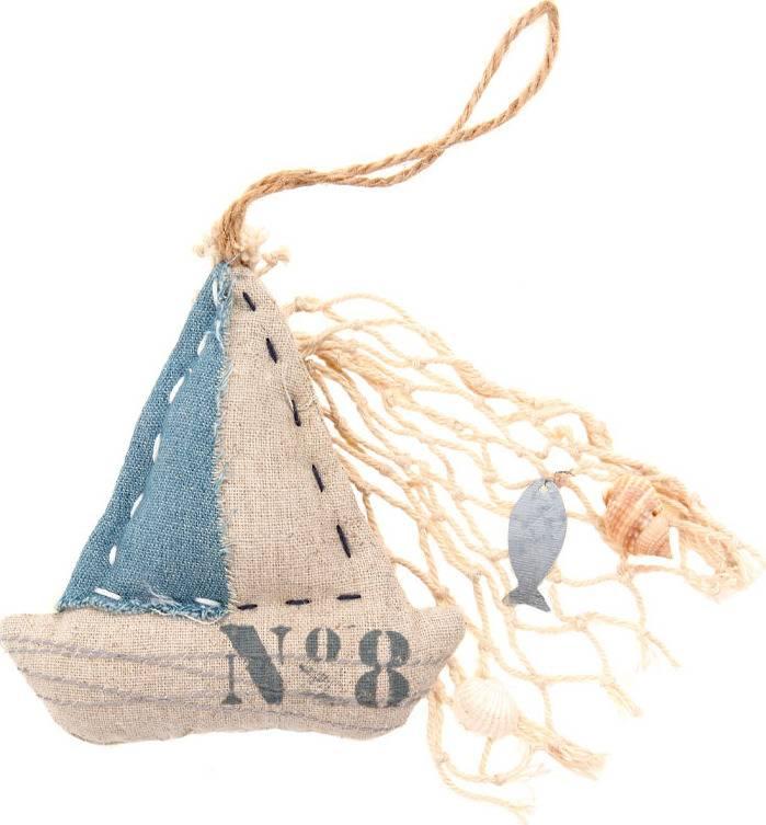 Lodička, textilní dekorace na pověšení KLA303 Art