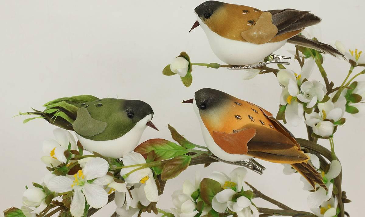 Ptáček s klipem, sada 3 ks, mix 3 barev MO756819 Art