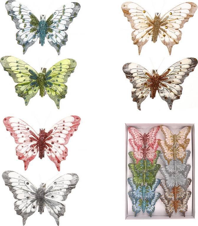 Motýl s klipem, cena za 12ks tj.1 box MO809522 Art