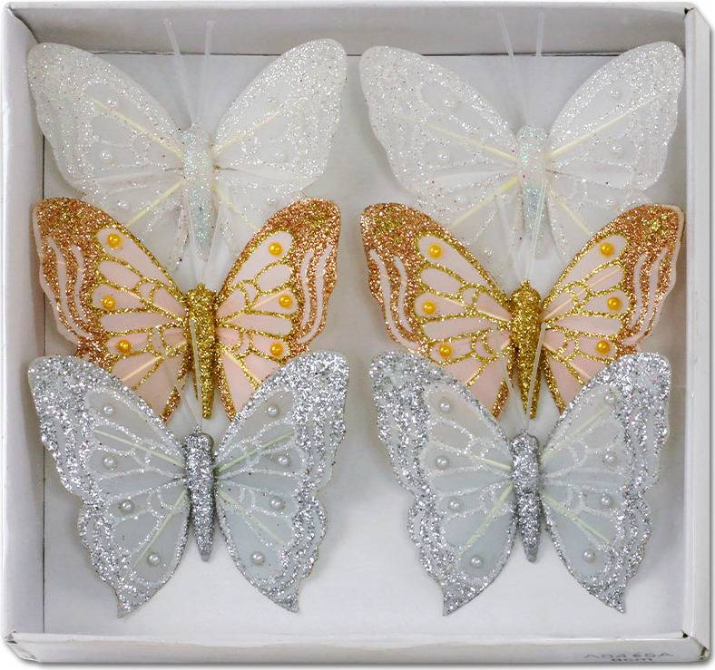 Motýl s klipem, cena za 12ks tj.1 box MO809539 Art