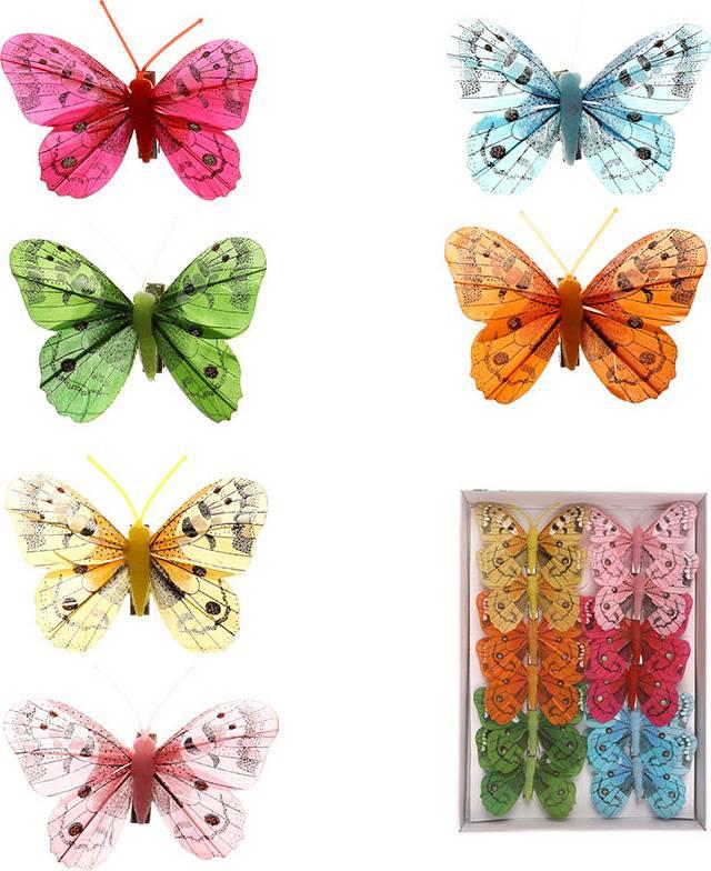 Motýl s klipem, cena za 12ks tj.1 box MO809553 Art