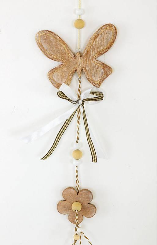 Motýl, dřevěná dekorace na zavěšení MO809768 Art