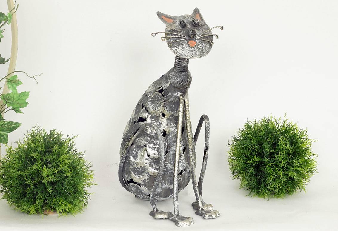 Dekorační kovová kočka MX160835 Art