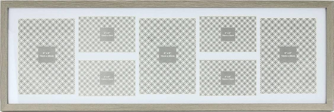 Fotorámeček plastový na 7 fotografii, 4x foto velikost 10x15 cm a 3x foto velikost 15x20 cm NB-3590 Art