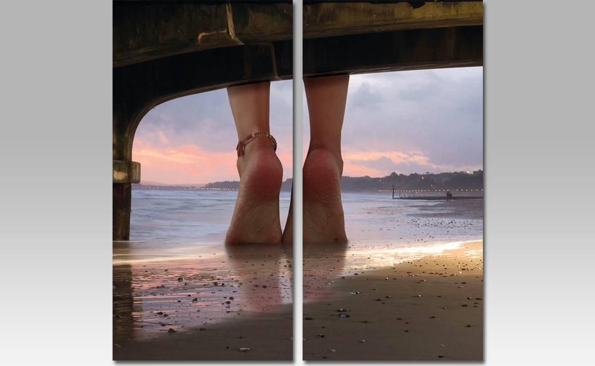 Obraz MDF, motiv: nohy na pláži OBK003 Art