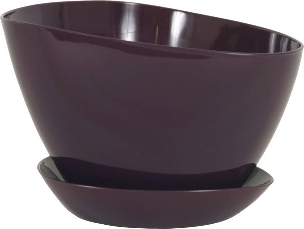 Obal na květiny s podtáckem plastový - barva fialová PLP005-18 PUR Art