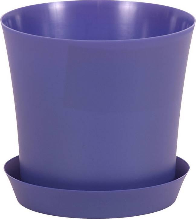 Obal na květiny plastový s podtáckem - barva fialová PLP008-12-5 PUR Art