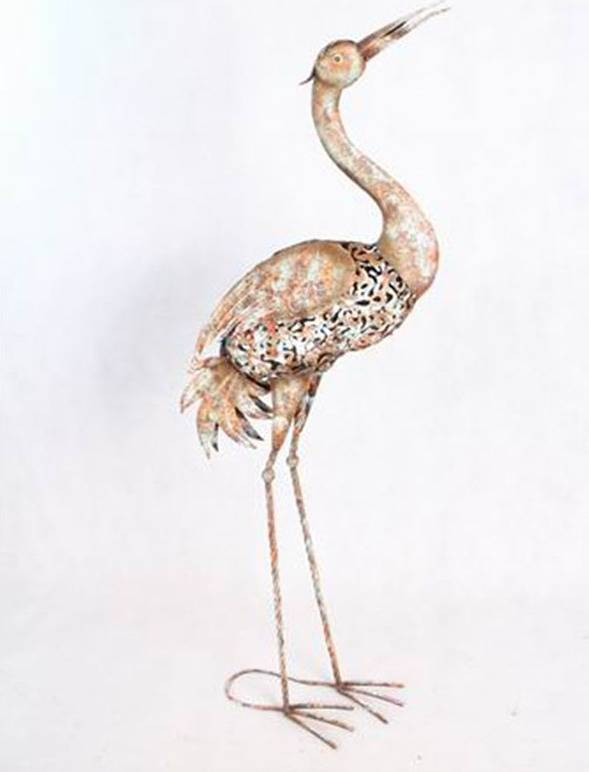 Volavka, kovová dekorace RZ3001 Art