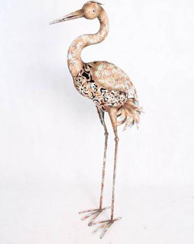 Volavka, kovová dekorace RZ3002 Art