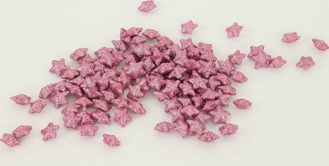 Hvězdička růžová dekorační, cena za sadu 120 kusů/1 polybag. VCA041 PINK Art