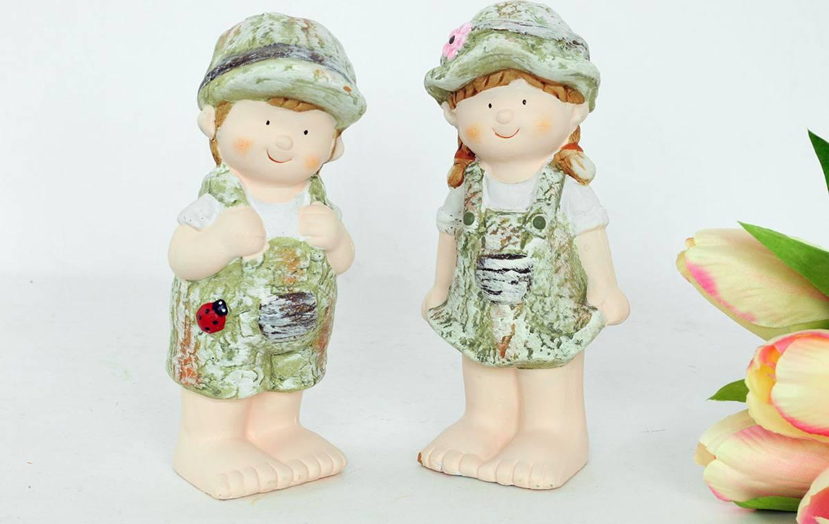 Chlapec nebo děvče, MgO zahradní keramická dekorace, cena za 1 kus WFD5567 Art