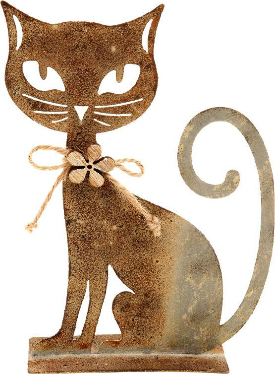 Kočka, kovová dekorace ZA806743 Art