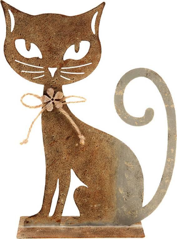 Kočka, kovová dekorace ZA806750 Art