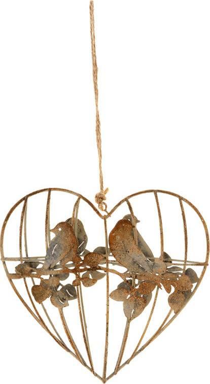 Srdce, dekorace z kovových drátků, na zavěšení ZA807009 Art