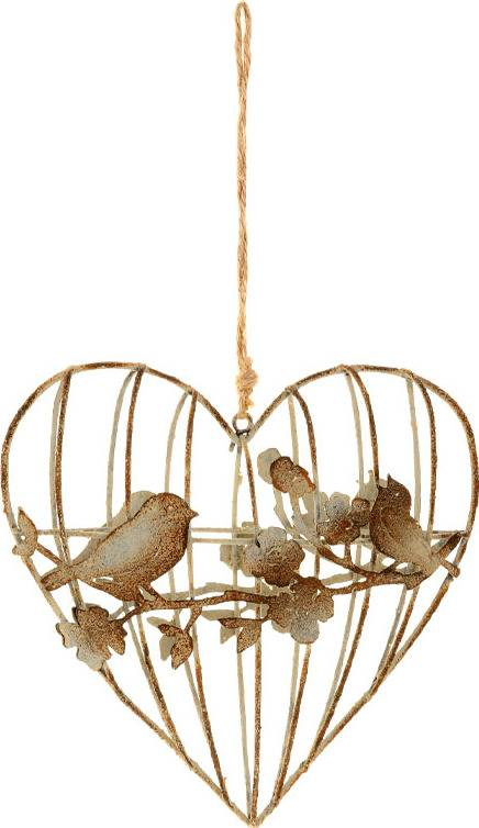 Srdce, dekorace z kovových drátků, na zavěšení ZA807016 Art