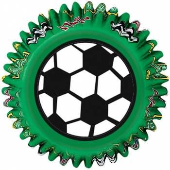 Košíčky na pečení fotbalový míč 75 ks - Wilton