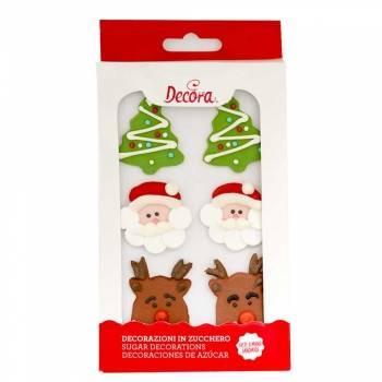 6 ks cukrových vánočních dekorací - Decora