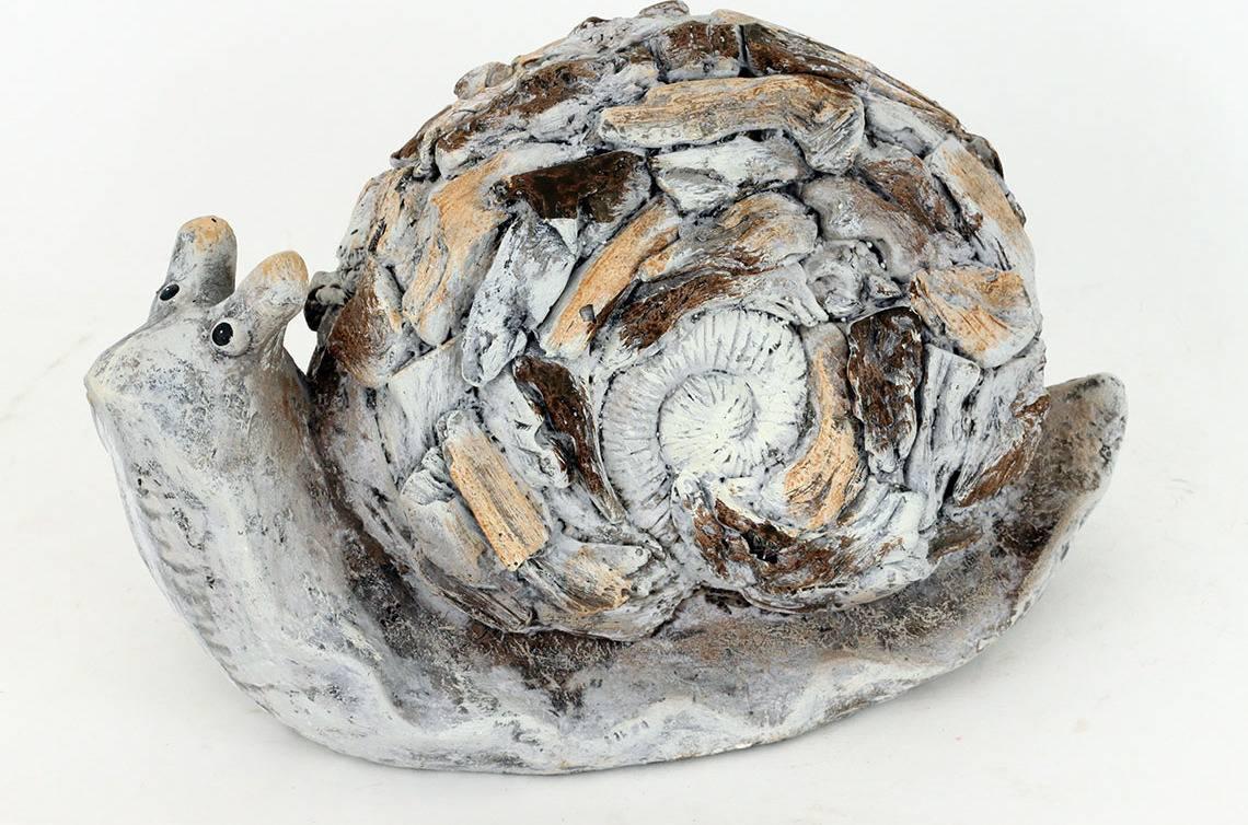 Šnek, hnědá barva, MgO keramika, zahradní dekorace KEM7425-A Art