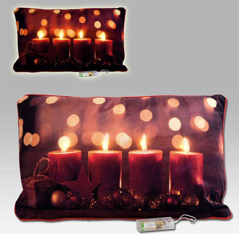 Polštář svítící, s výplní. Vánoční design. LED světlo. POL511 Art
