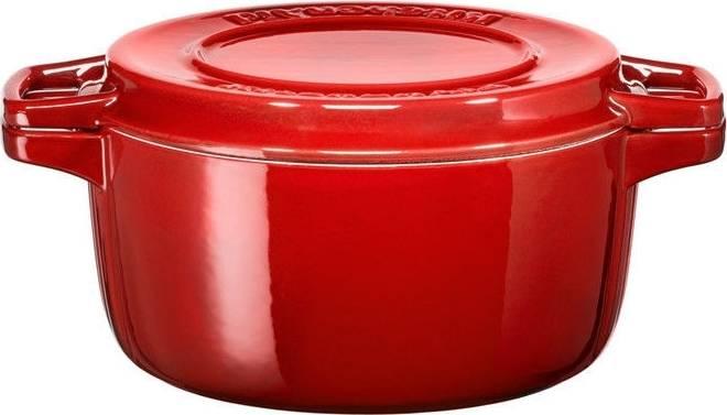 Litinový hrnec 3,8l 24cm královská červená KCPI40CRER KitchenAid