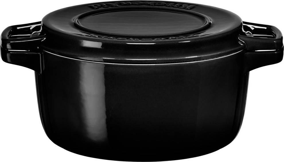 Litinový hrnec 3,8l 24cm černá KCPI40CROB KitchenAid
