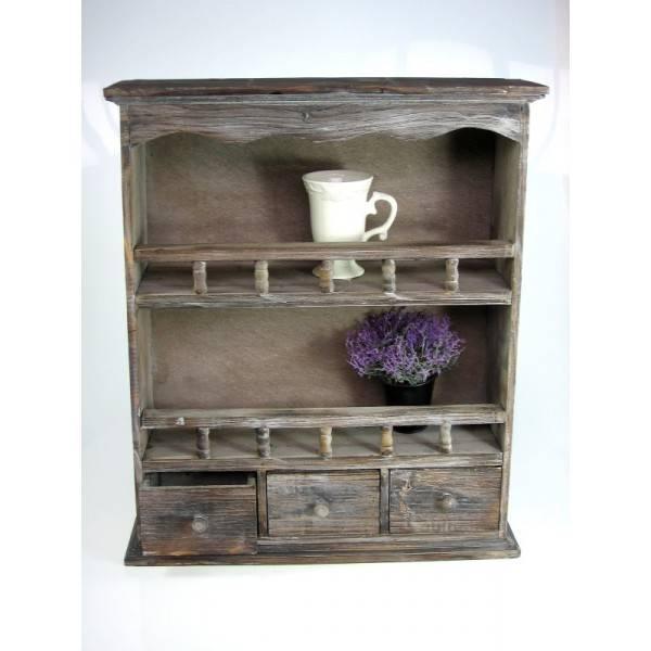 Dřevěná polička se šuplíky - IntArt + dárek k nákupu