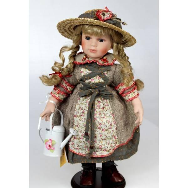 Porcelánová panenka zahradnice - IntArt