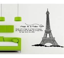 Dekorace na zeď - Eiffelova věž - Nalepovací tabule