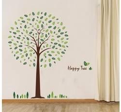 Samolepící dekorace na zeď - Happy Tree - Nalepovací tabule