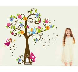 Dětské samolepky - Strom květů - Nalepovací tabule