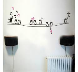 Dětské samolepky - Zpívající ptáčci - Nalepovací tabule