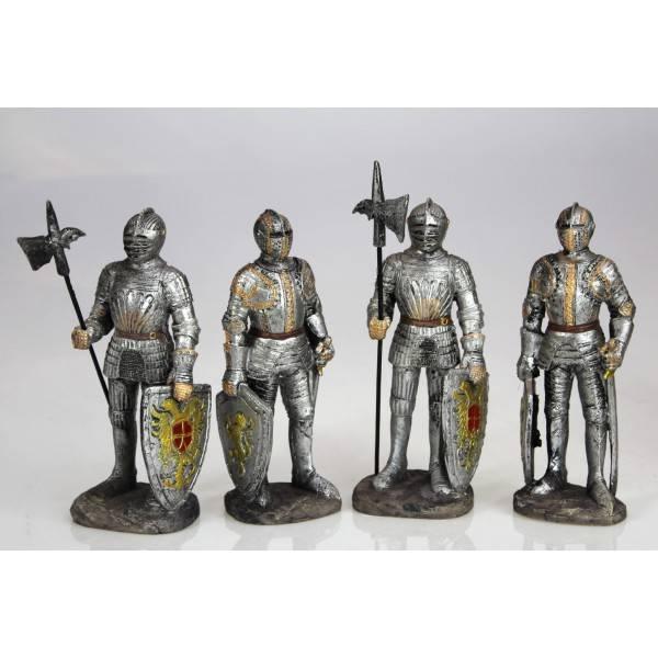 Figurky rytířů připravení k boji 4ks 15cm polyresin - IntArt