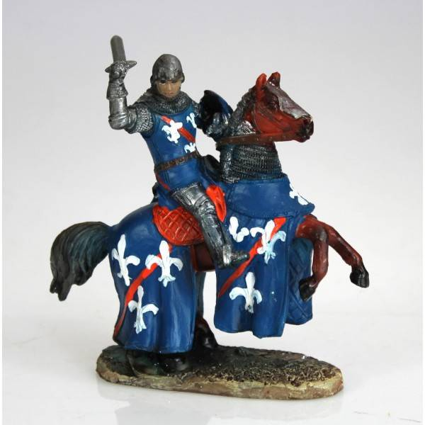 Figurka rytíře na koni 12cm polyresin - IntArt