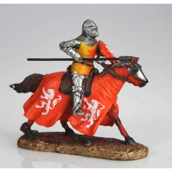 Figurka rytíře na koni souboj 12cm polyresin - IntArt