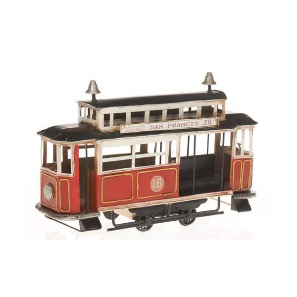 Plechový model retro tramvaj San Francisco 32cm - IntArt