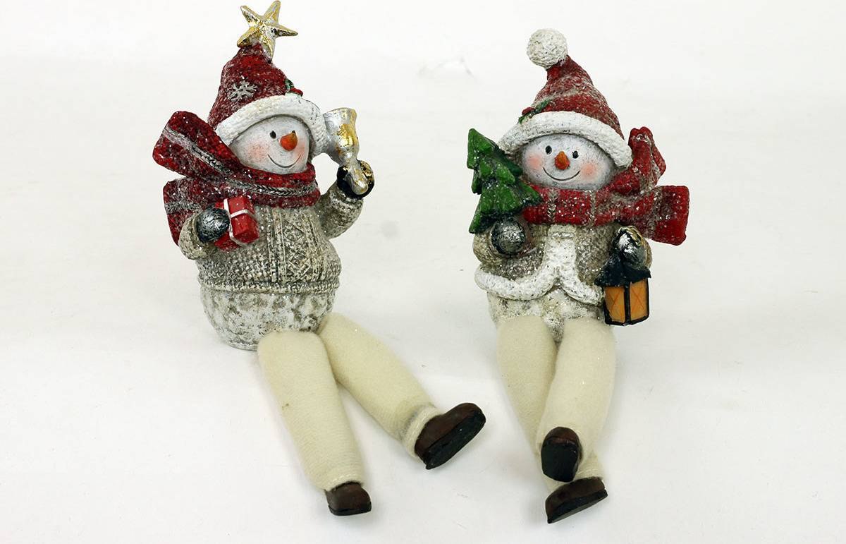 Sněhulák, polyresinová dekorace AND133 Art