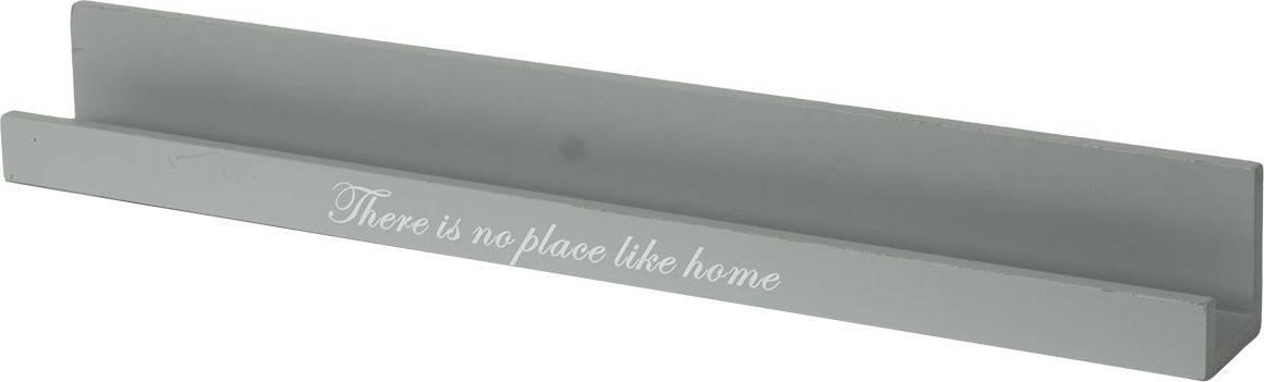 Polička úzká, dřevěná, barva šedá (20B116970) Art