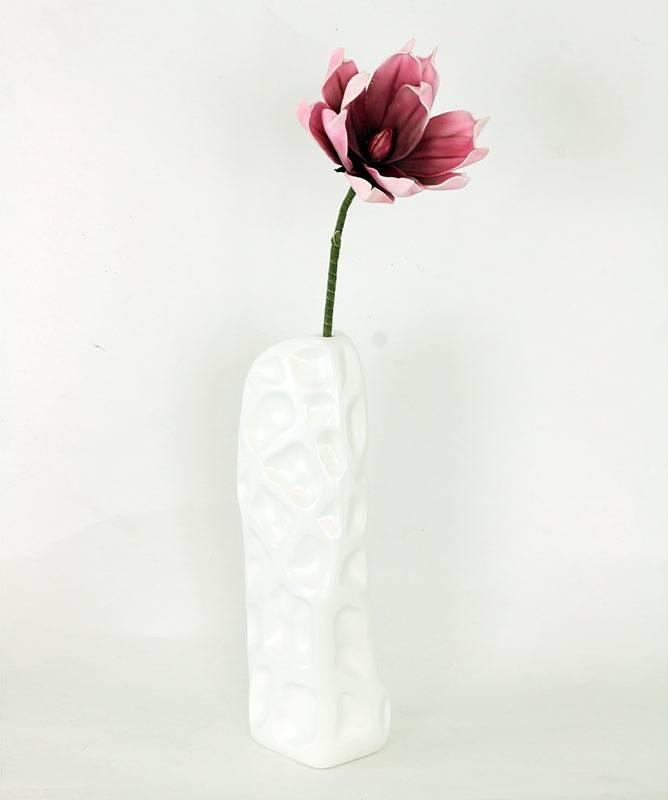 Magnolie červeno-růžová, umělá květina pěnová K-106 Art