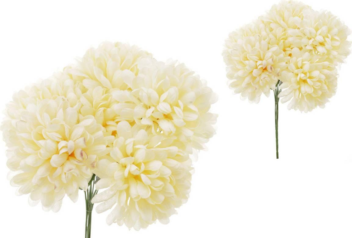Puget chryzantéma - 7 hlav, barva krémová. LS024-CREAM Art