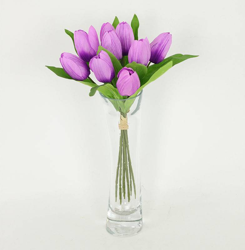 Puget tulipánů, 9 hlaviček, umělá květina, barva fialová NL0037PUR Art