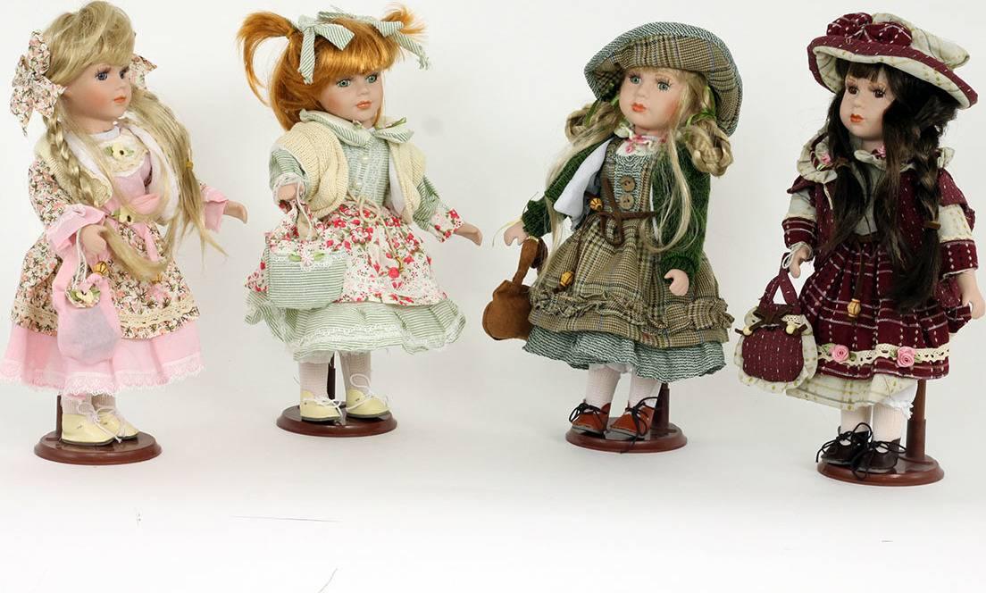 Dekorační panenka s porcelánovou hlavičkou, mix 4 druhů PAN764173 Art