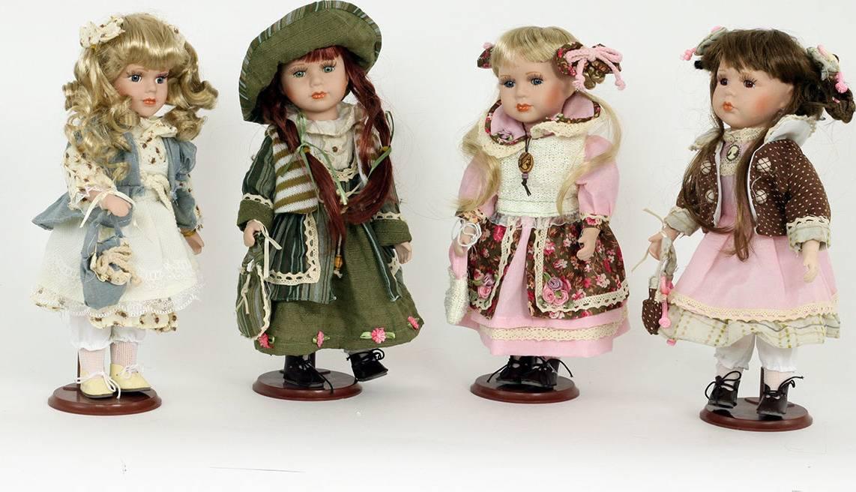 Dekorační panenka s porcelánovou hlavičkou, mix 4 druhů PAN764197 Art