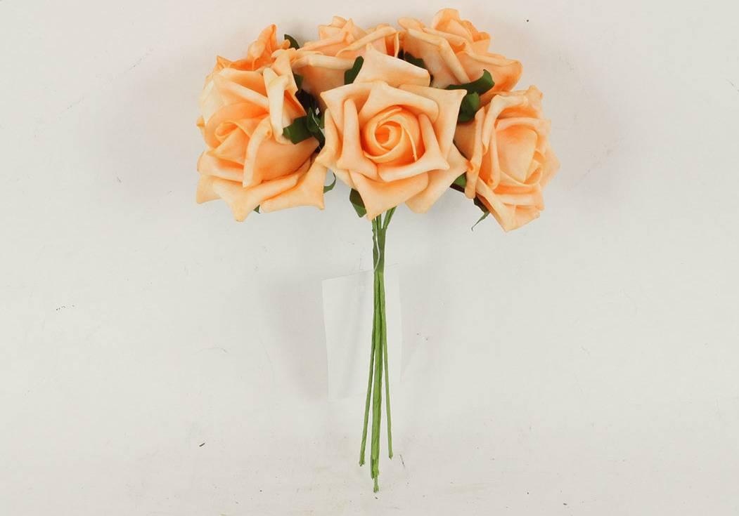 Růžičky pěnové, puget 6ks, barva oranžová PRZ755485 Art