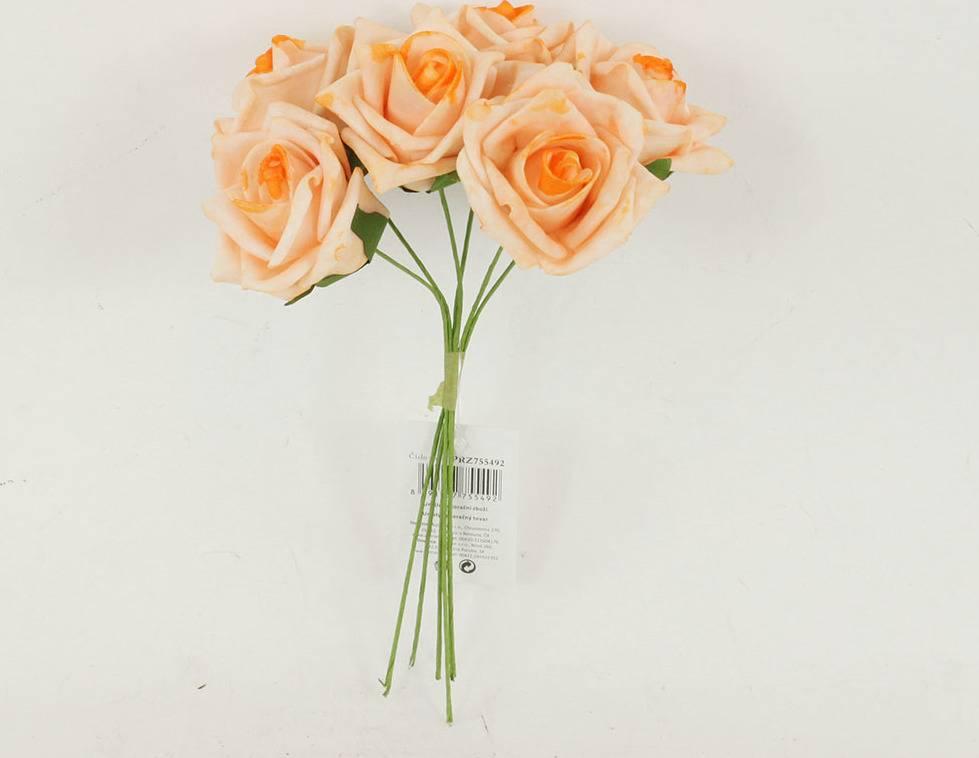 Růžičky pěnové, puget 6ks, barva lososová PRZ755492 Art