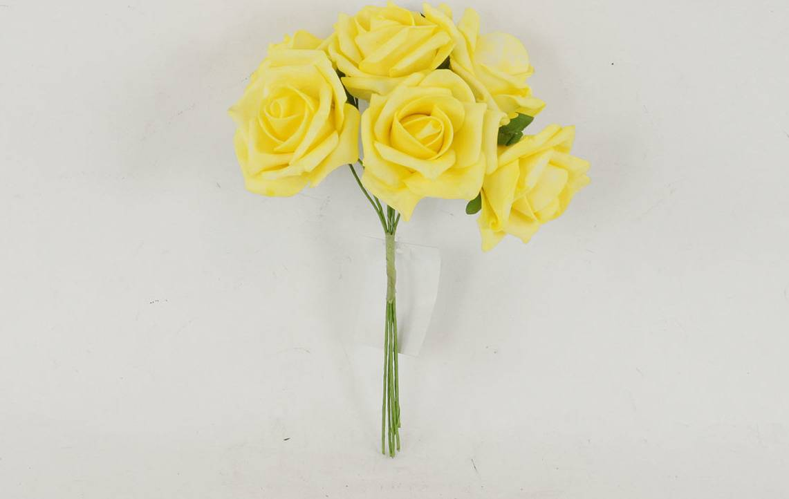 Růžičky pěnové, puget 6ks, barva žlutá PRZ755515 Art