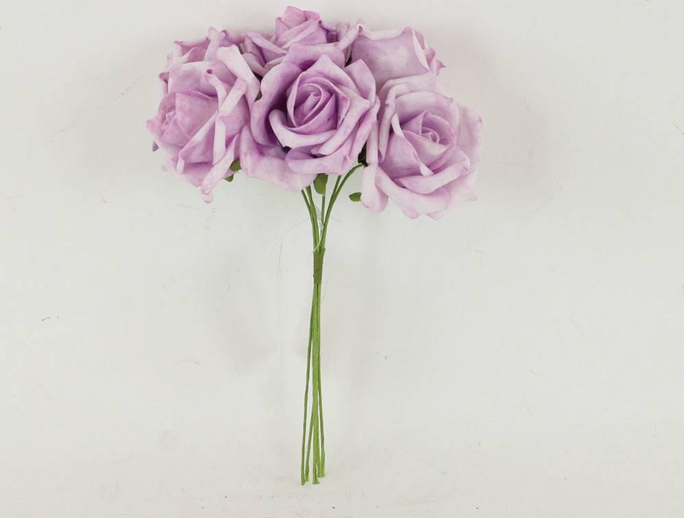 Růžičky pěnové, puget 6ks, barva fialová PRZ755522 Art