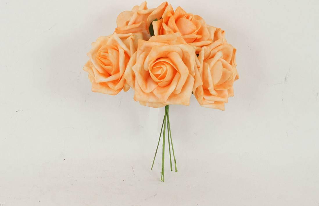 Růžičky pěnové, puget 6ks, barva oranžová PRZ755546 Art
