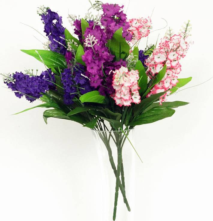 Umělá květina - šeřík puget, mix 4 barev (7 hlav) (bývalo PUG14324) PUG815585N Art